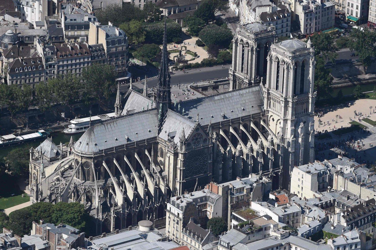 The Notre-Dame Cathedral on the Ile de la Cite, Paris, France on July 14, 2017. (AFP Photo)