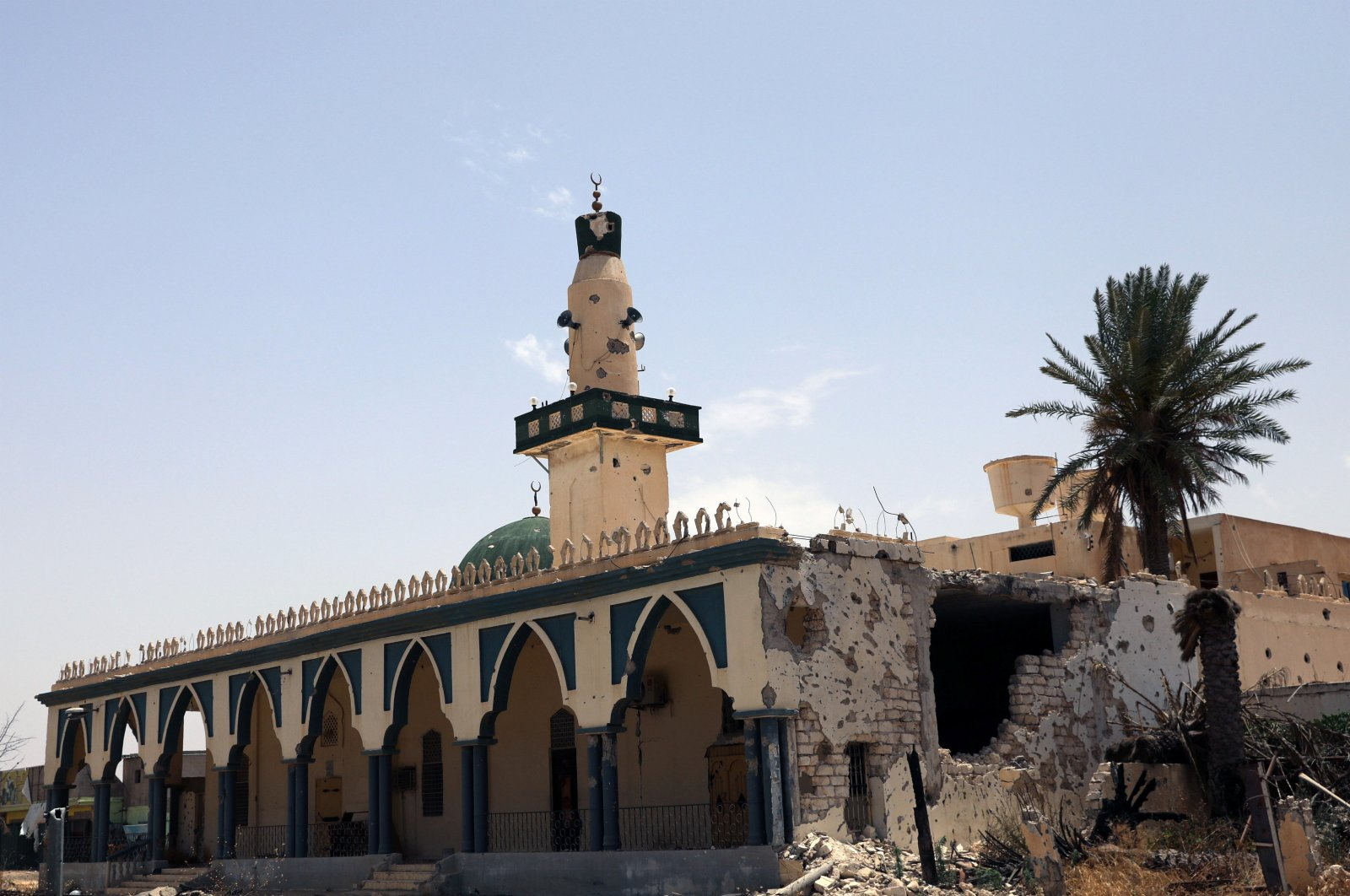 A damaged mosque is seen after Libyan's internationally recognised government regained control over the city, in Tripoli, Libya, June 4, 2020. (REUTERS)