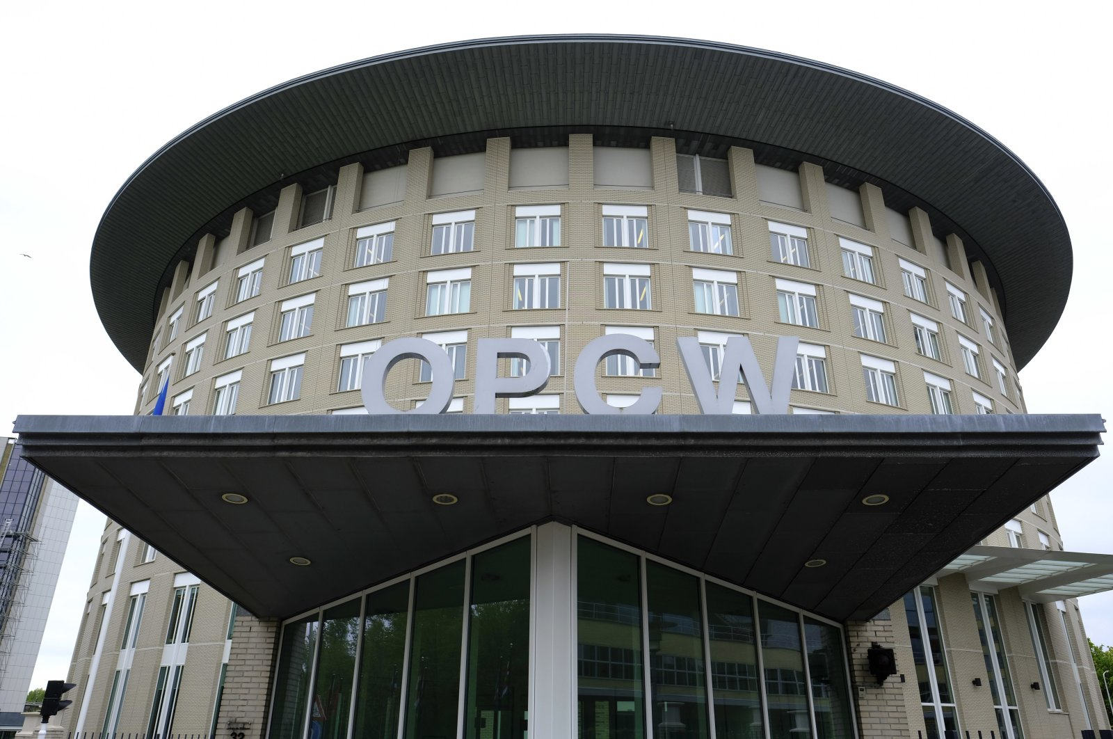 A view of the headquarters of the Organisation for the Prohibition of Chemical Weapons (OPCW), in The Hague, Netherlands, May 5, 2017. (AP)