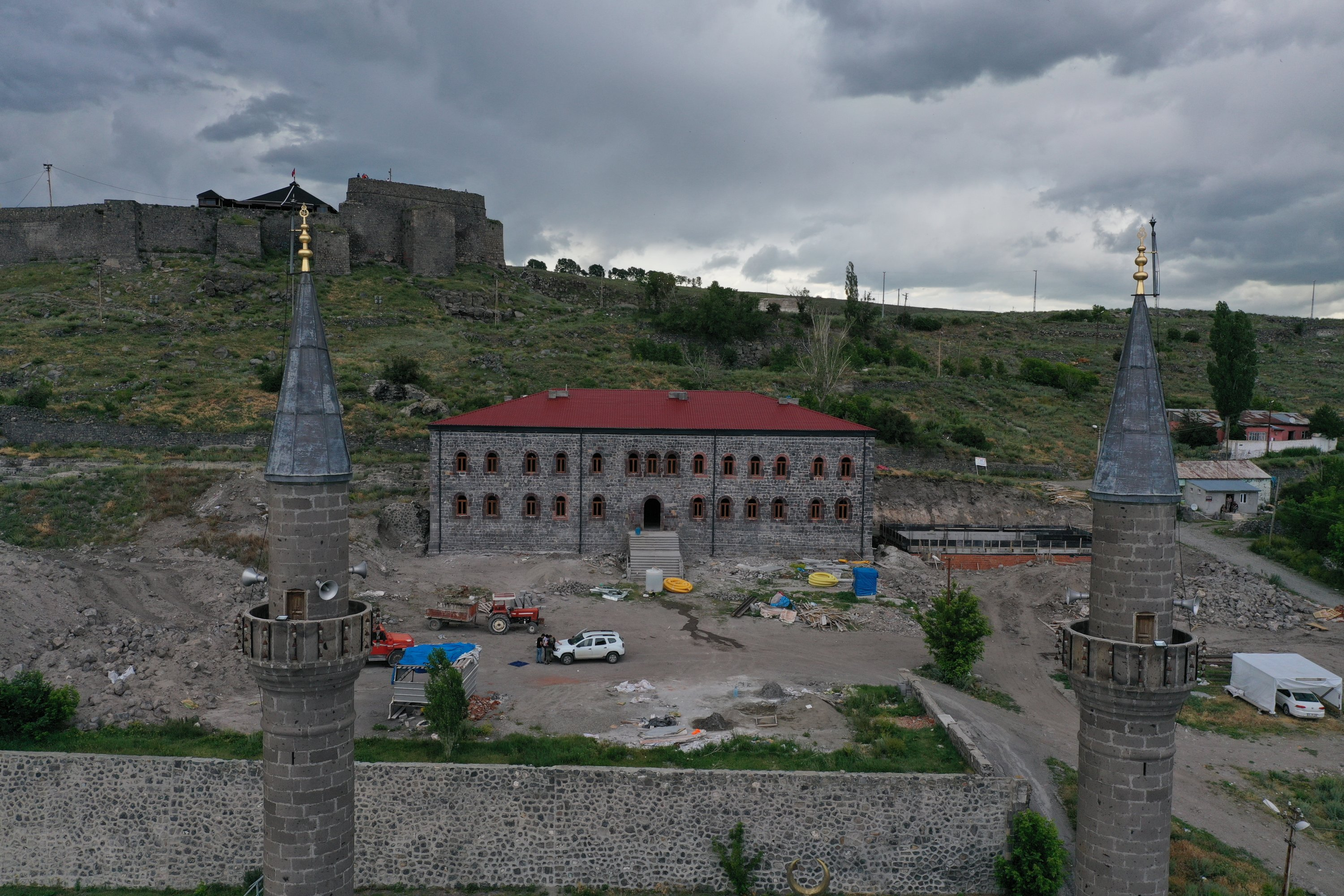 A photo showing the palace from afar, eastern Kars, Turkey, July 9, 2020. (AA PHOTO)
