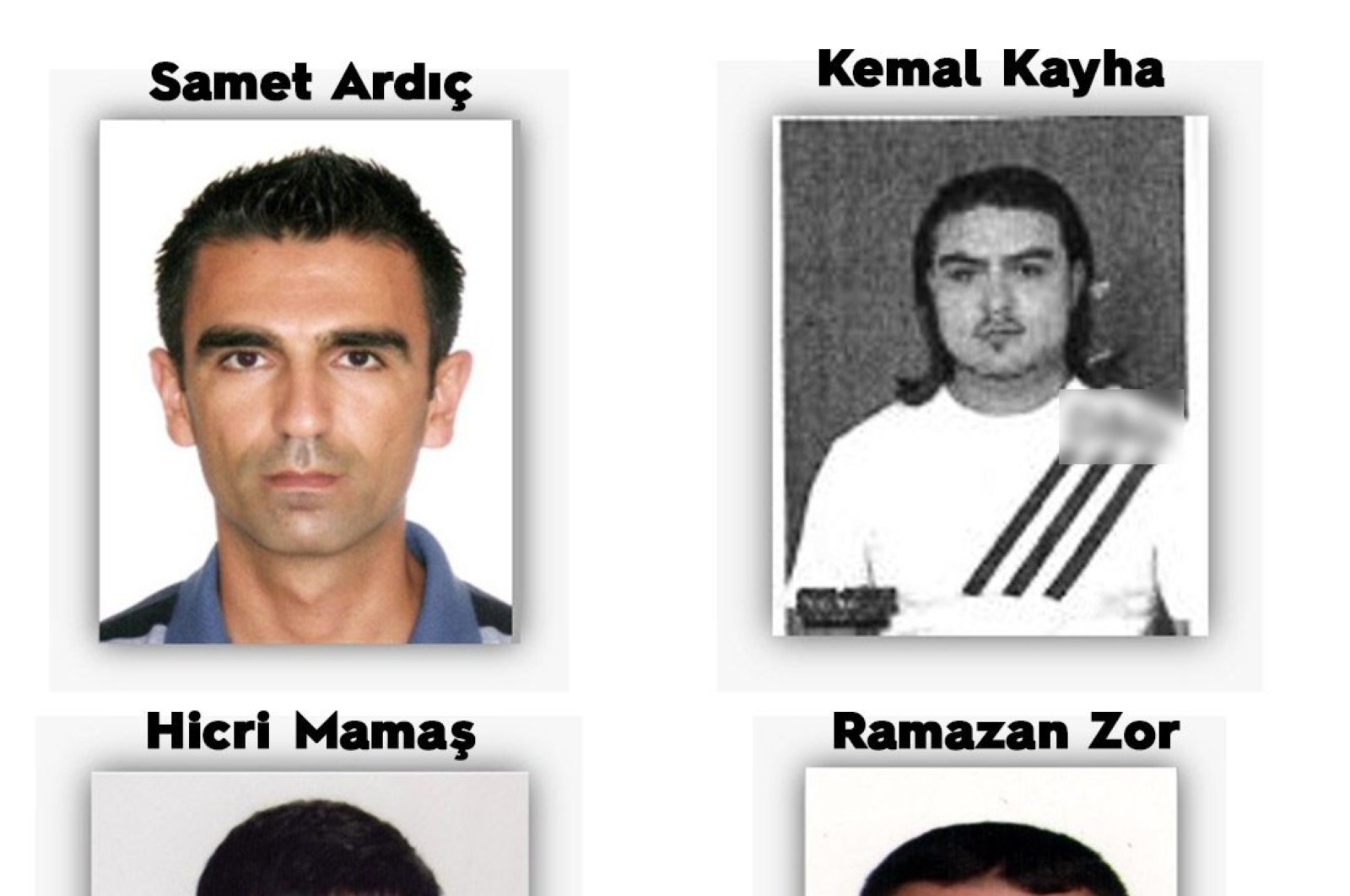A composite photo of the four suspects. (İHA PHOTO)
