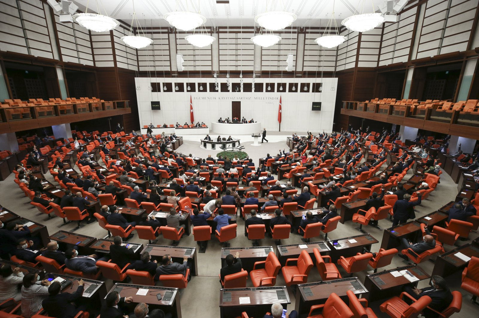 A general view of the Grand National Assembly of Turkey, in Ankara, July 11, 2020. (AA Photo)