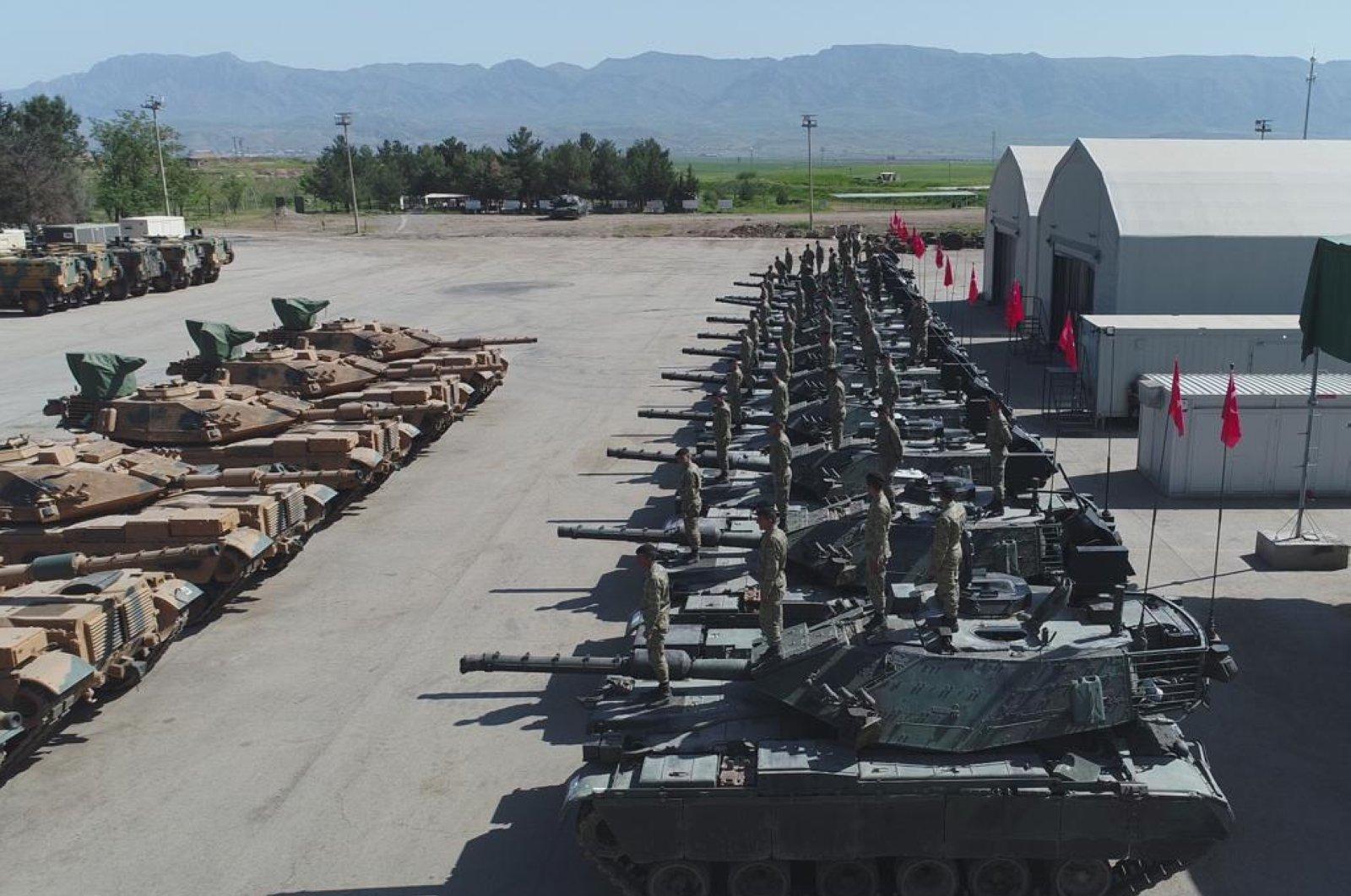 M60T battle tanks in TSK's inventory seen in Ankara, Turkey, July 12, 2020. (DHA Photo)