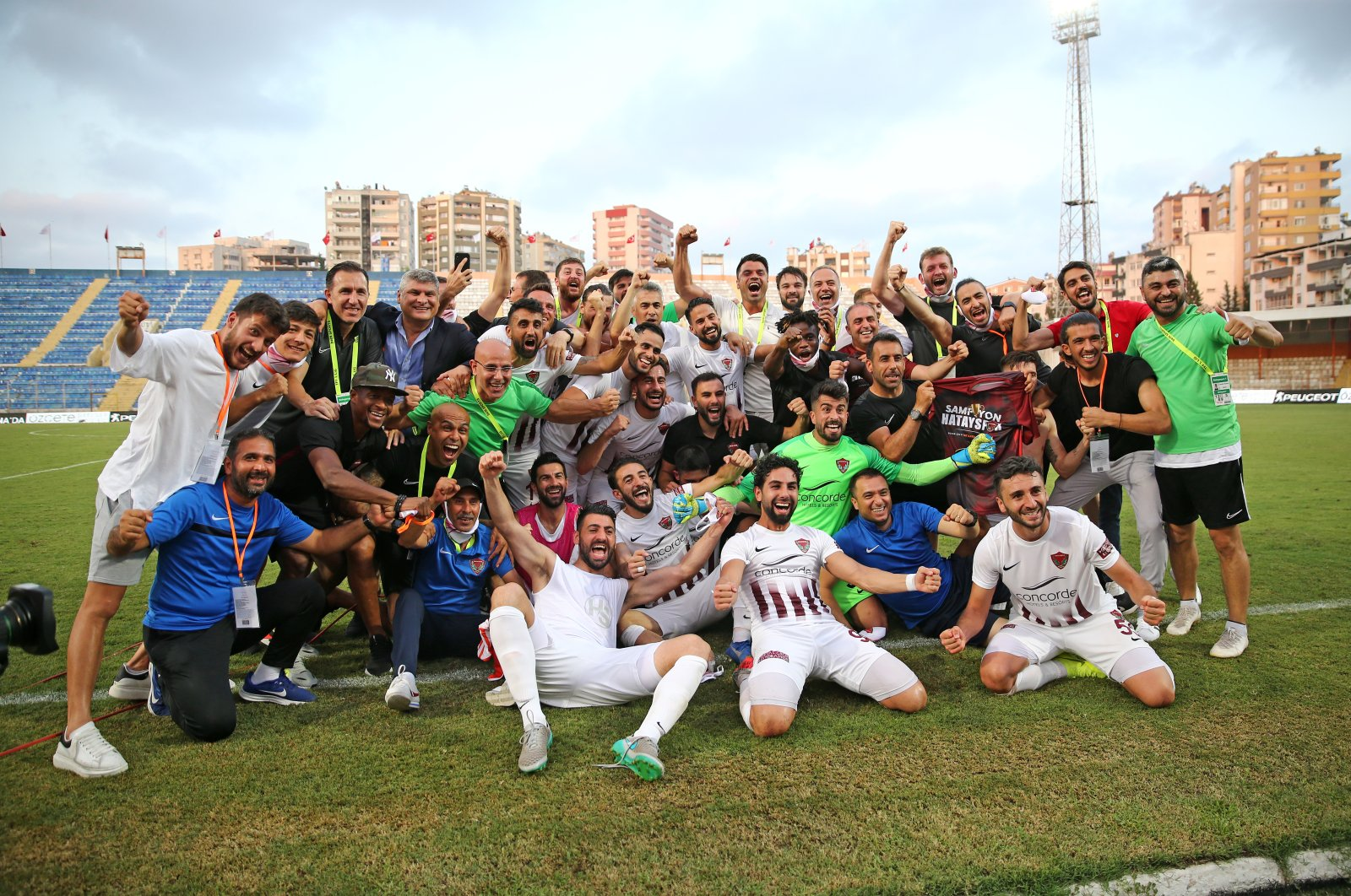 Hatayspor moves up to the Turkish Süper Lig after winning the second-tier TFF First League. (AA Photo)