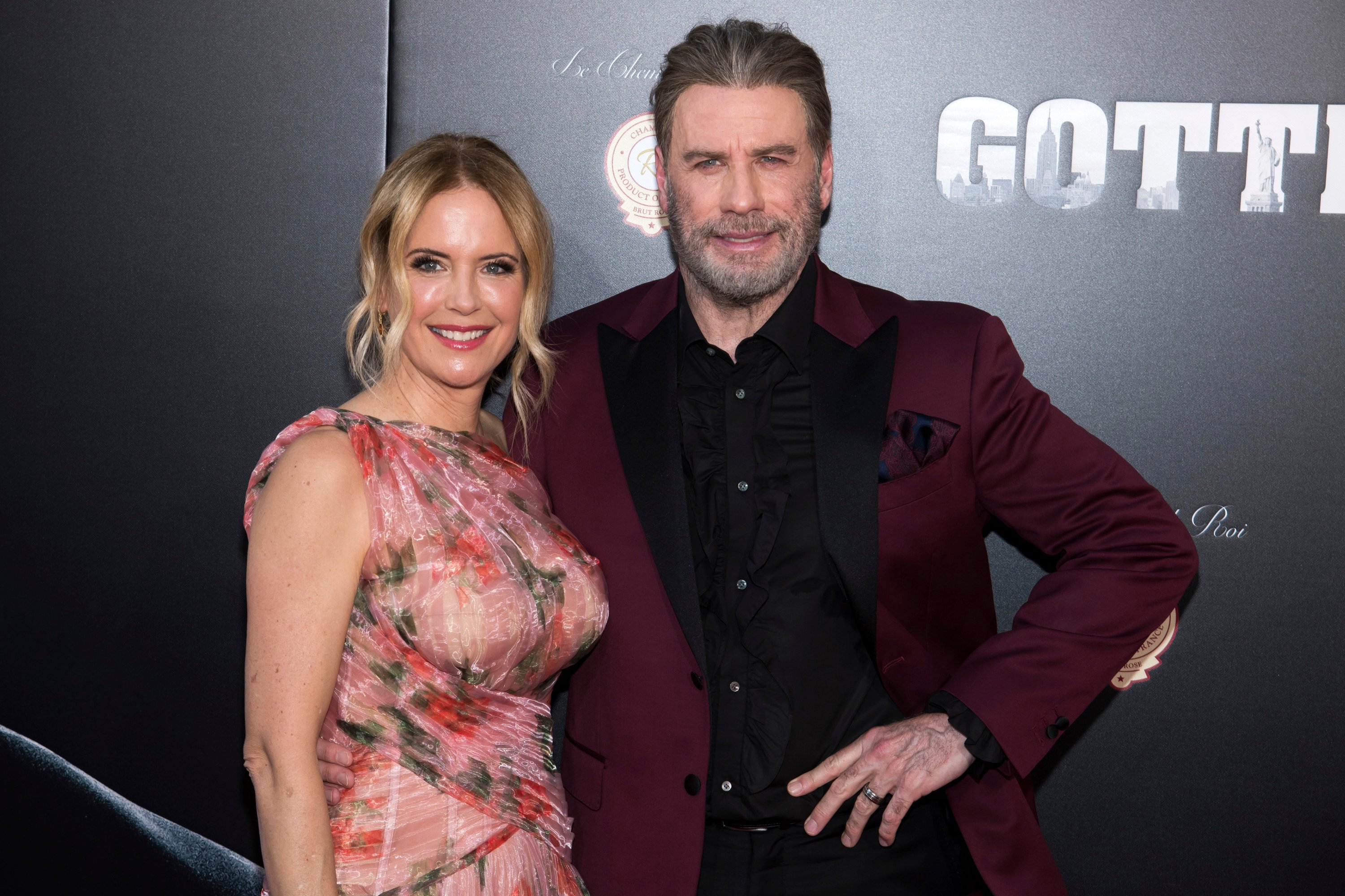 In this file photo, Kelly Preston and John Travolta attend the premiere of