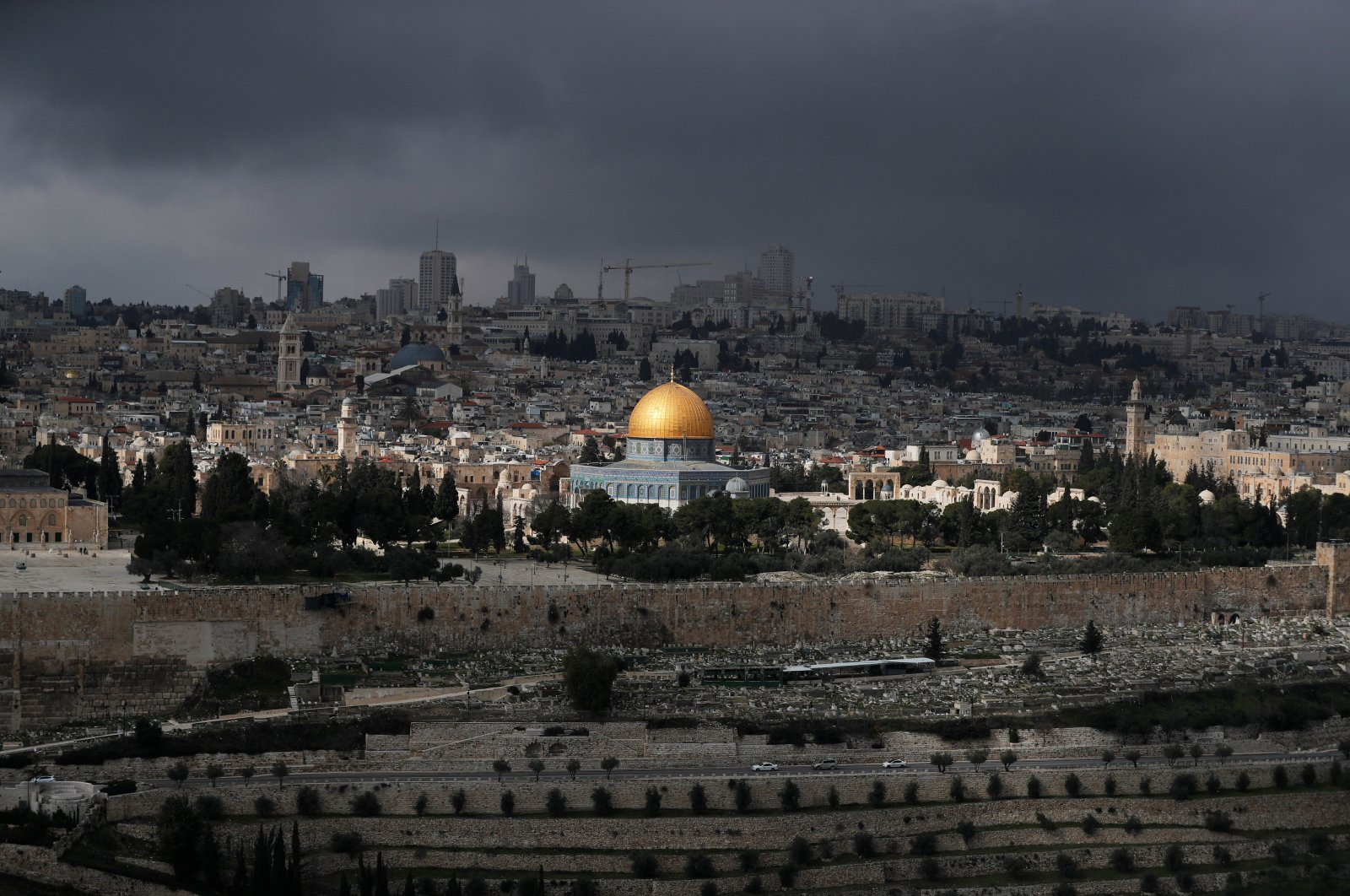 The Dome of the Rock in the compound known to Jews as Temple Mount and to Palestinians as Noble Sanctuary in Jerusalem's Old City, Jan. 29, 2020. (Reuters Photo)