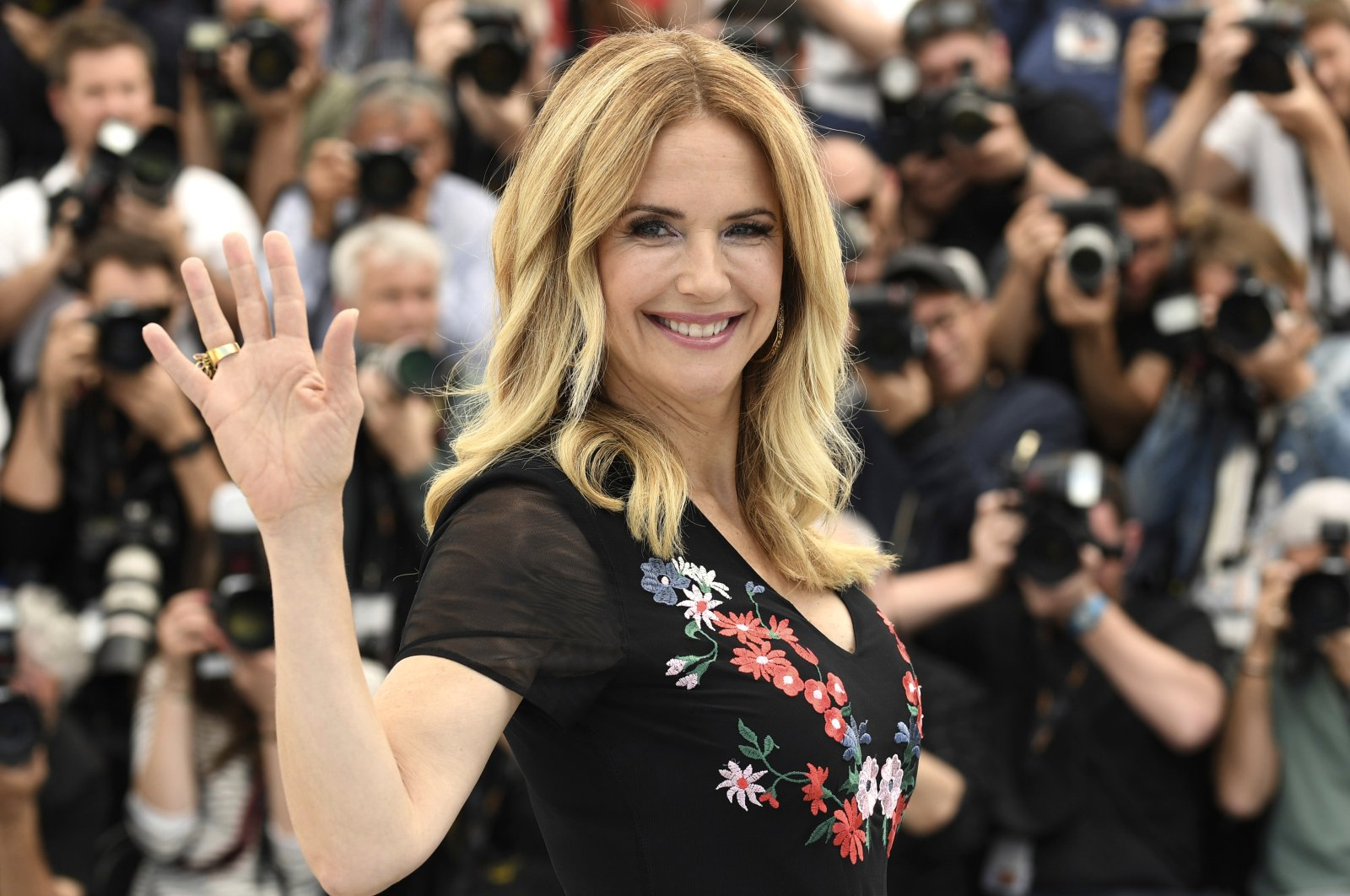 In this file photo, actress Kelly Preston poses for photographers during a photocall for the film 'Gotti' at the 71st international film festival, Cannes, southern France, May 15, 2018.  (AP PHOTO)