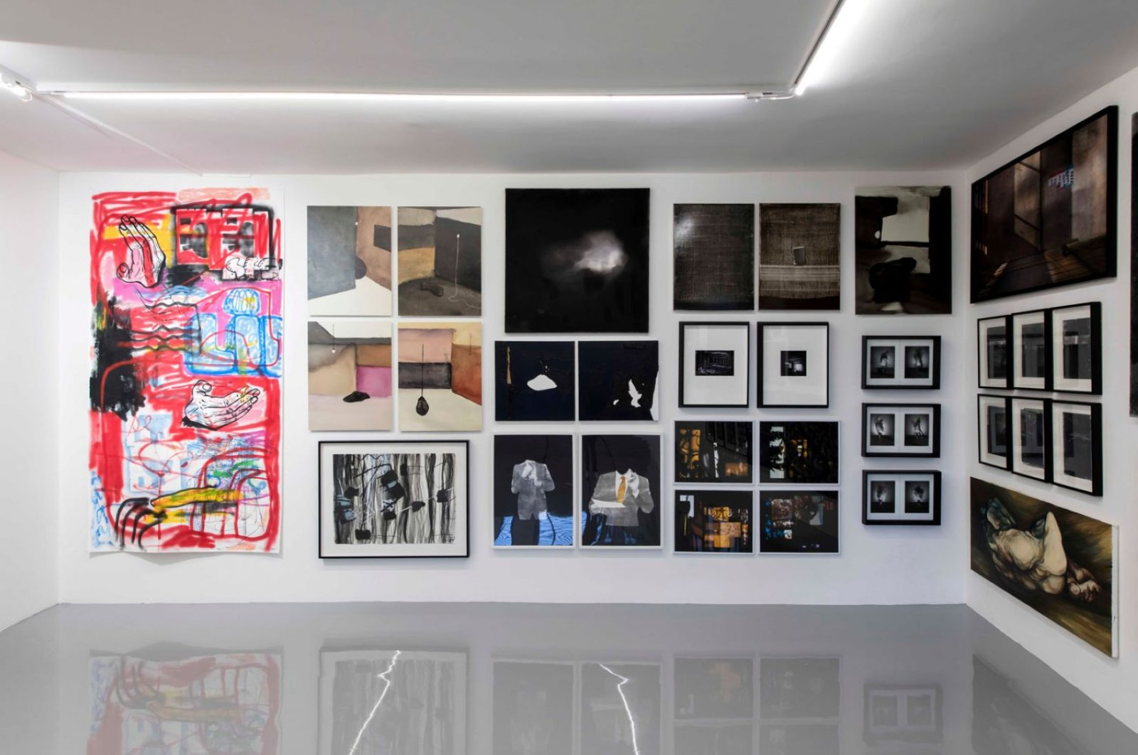 """Installation view form """"Eternal Summer"""" group show at ArtOn in Istanbul."""