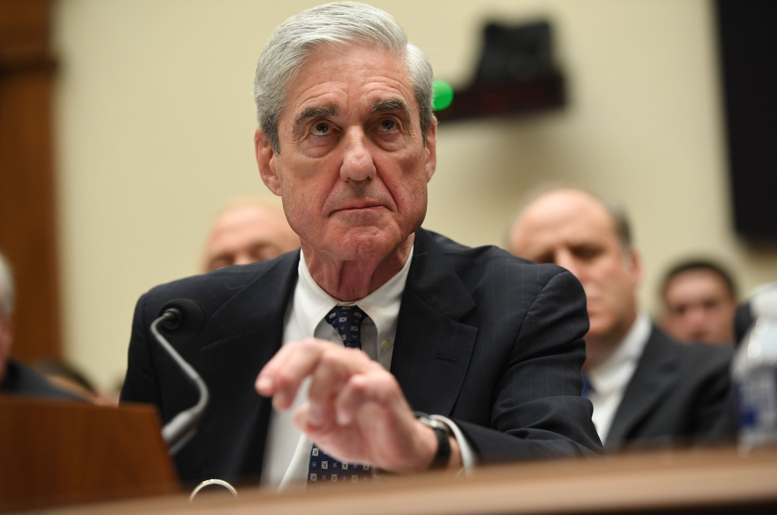 In this file photo, former Special Prosecutor Robert Mueller testifies before Congress in Washington, D.C., July 24, 2019. (AFP Photo)