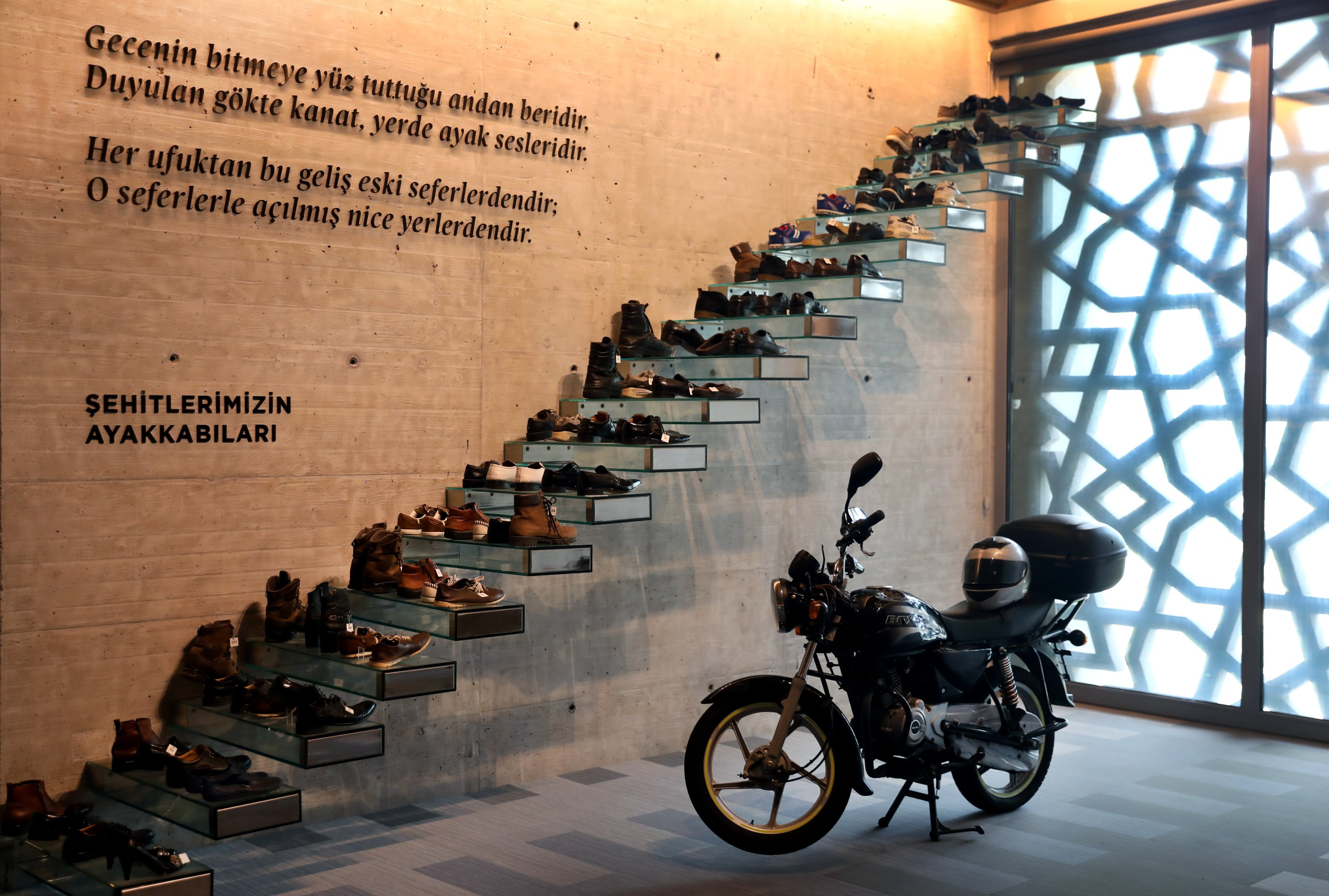 The shoes of July 15 martyrs are seen at the museum in Istanbul, July 13, 2020 (AA PHOTO)