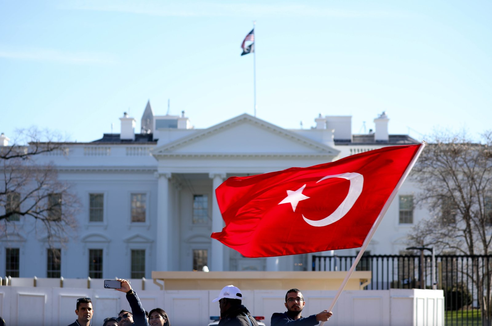 A group of Turkish-American people protests in front of the White House in Washington, D.C. in this undated file photo (AA File Photo)