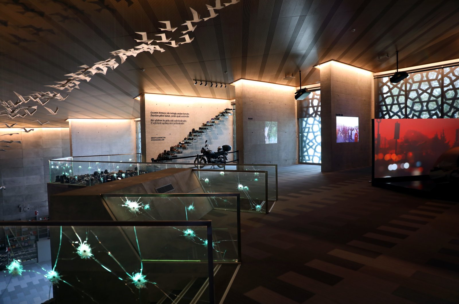 The second floor of the museum in Istanbul, July 7, 2020. (AA PHOTO)