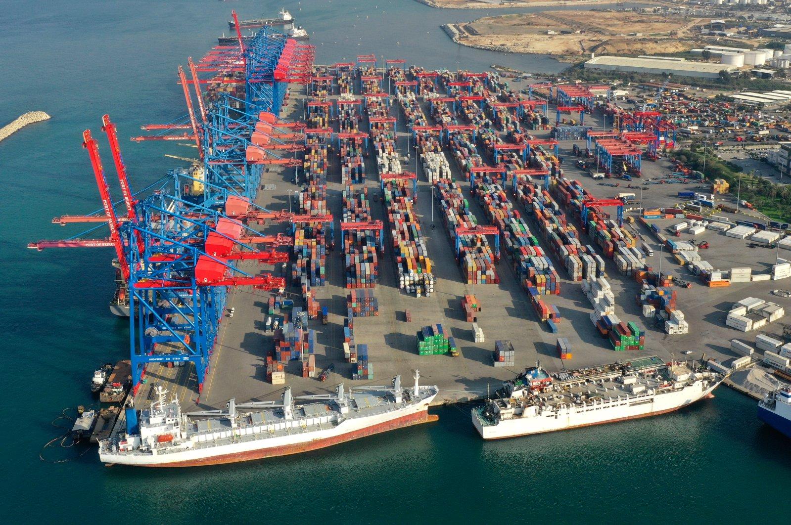 This Nov. 30, 2018 file photo shows an aerial view of a seaport terminal, Beirut, Lebanon. (AP Photo)