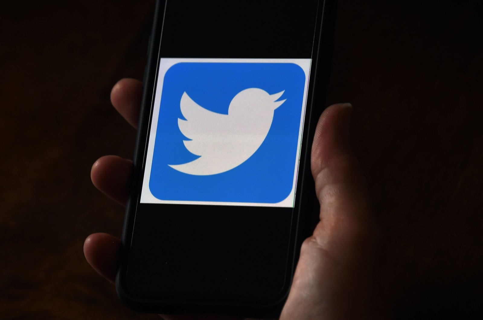 "In this file photo illustration, a Twitter logo is displayed on a mobile phone on May 27, 2020, in Arlington, Virginia. - Twitter shares closed the formal trading day up more than 7 percent after word spread of a team codenamed ""Gryphon"" working on a subscription platform. (AFP Photo)"
