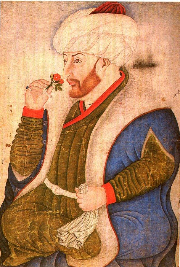 A portrait of Sultan Mehmed II by Ottoman court miniature painter Nakkaş Sinan Bey.