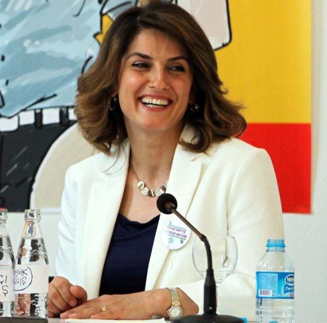 Başak Demirtaş, the wife of former co-chairman of the Peoples' Democratic Party (HDP), Selahattin Demirtaş. (Photo by Uğur Yıldırım)