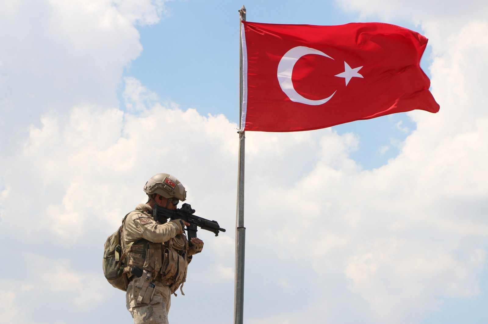 Turkish security forces conduct an operation against the PKK terrorist organization in Şırnak province, Turkey, July 15, 2020. (DHA Photo)