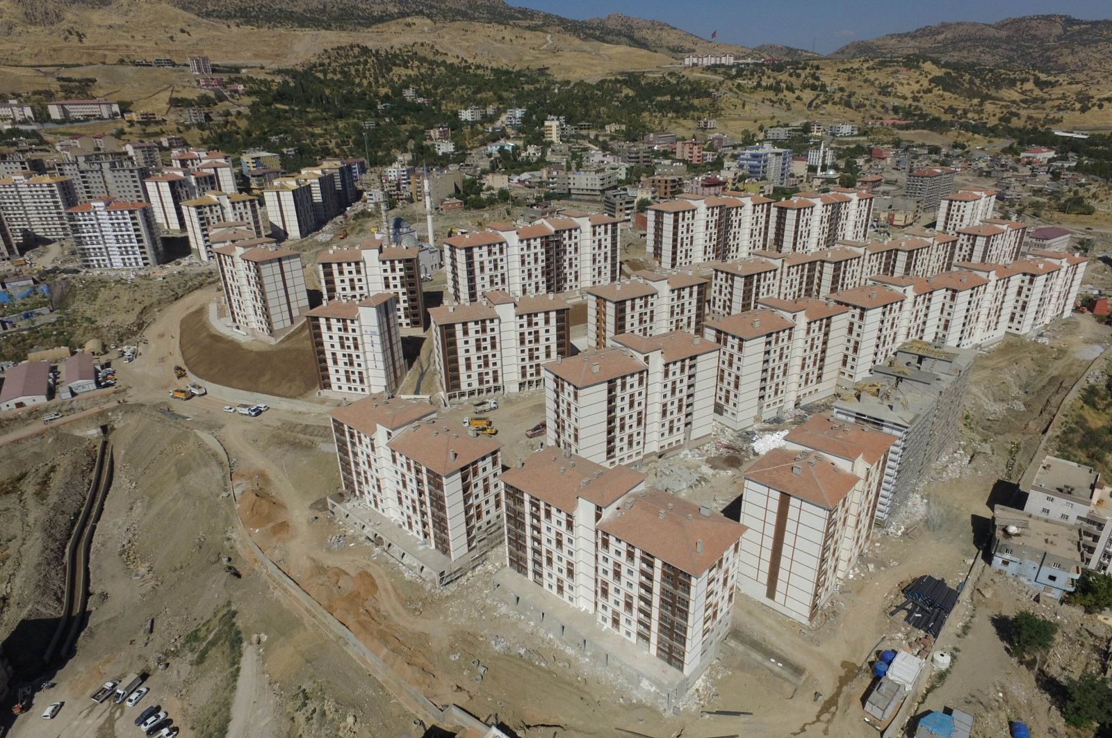 This file photo dated 2018 shows a housing project in southeastern Şırnak province. (Sabah File Photo)