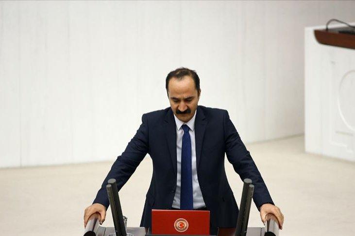 HDP Muş Deputy Mensur Işık speaks at the Turkish Parliament in this undated file photo. (AA File Photo)