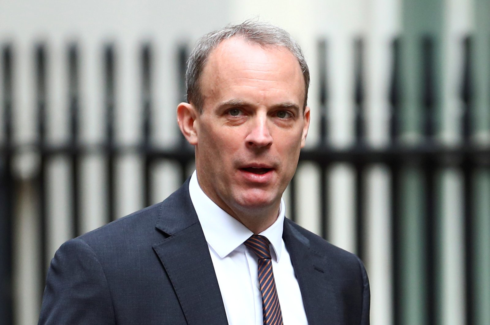 Britain's Foreign Secretary Dominic Raab arrives at Downing Street ahead of a cabinet meeting in London, Britain, July 14, 2020. (Reuters Photo)