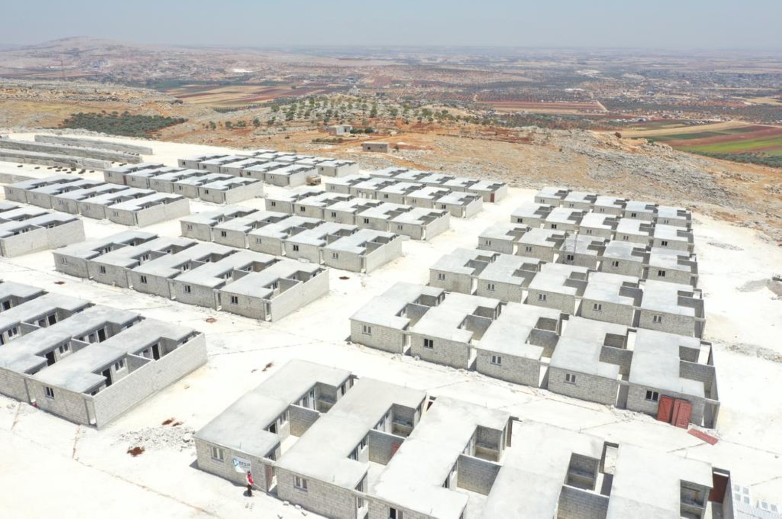 The Beşir Foundation erected 180 briquette homes in Idlib to provide better living conditions for displaced Syrians, northern Syria, July 16, 2020. (AA Photo)