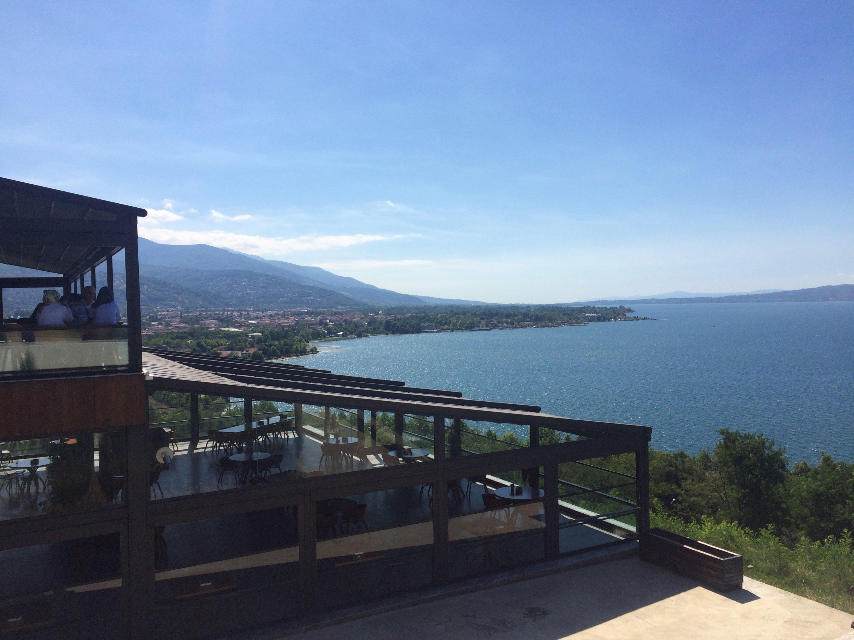 A view of Sapanca Lake from the restaurant at Seyir Terası, July 11, 2020. (Gabriela Akpaça / Daily Sabah)