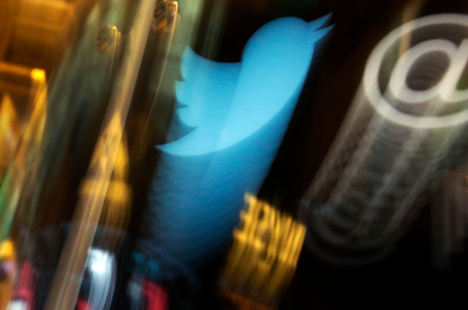 The Twitter logo appears on an updated phone post on the floor of the New York Stock Exchange, New York City, New York, U.S., Nov. 6, 2013. (AP Photo)