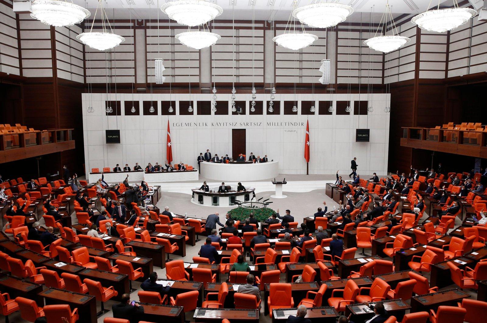 The General Assembly of the Grand National Assembly of Turkey, Ankara, Turkey, July 16, 2020. (AA Photo)