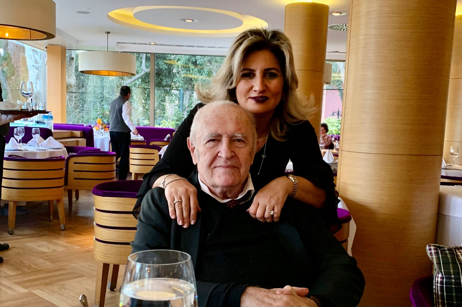 Dr. Murat Dilmener is pictured with his daughter Fulya, in Istanbul, Turkey, Feb. 2, 2020, in this family photo made available by Dr. Caner Dilmener. (AP Photo)