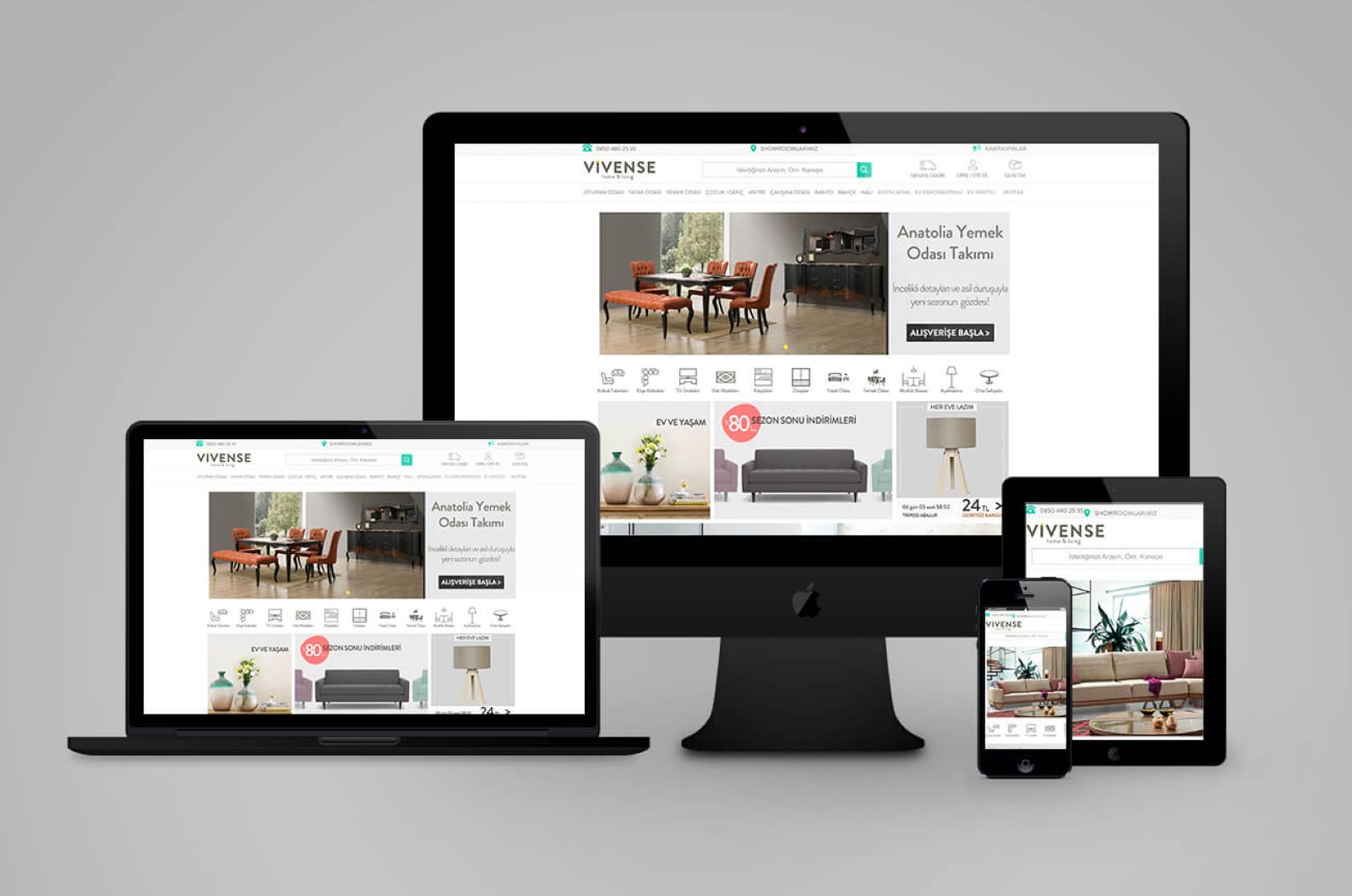 Along with the showroom set to open in London soon, Vivense's e-commerce site will start its activities across the U.K. at the beginning of 2021.
