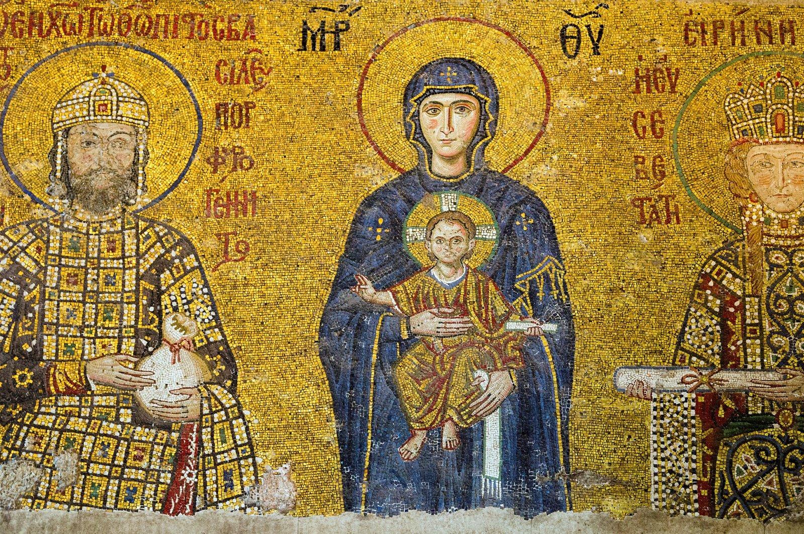 Christian mosaic icon in the Hagia Sofia. (iStock Photo)