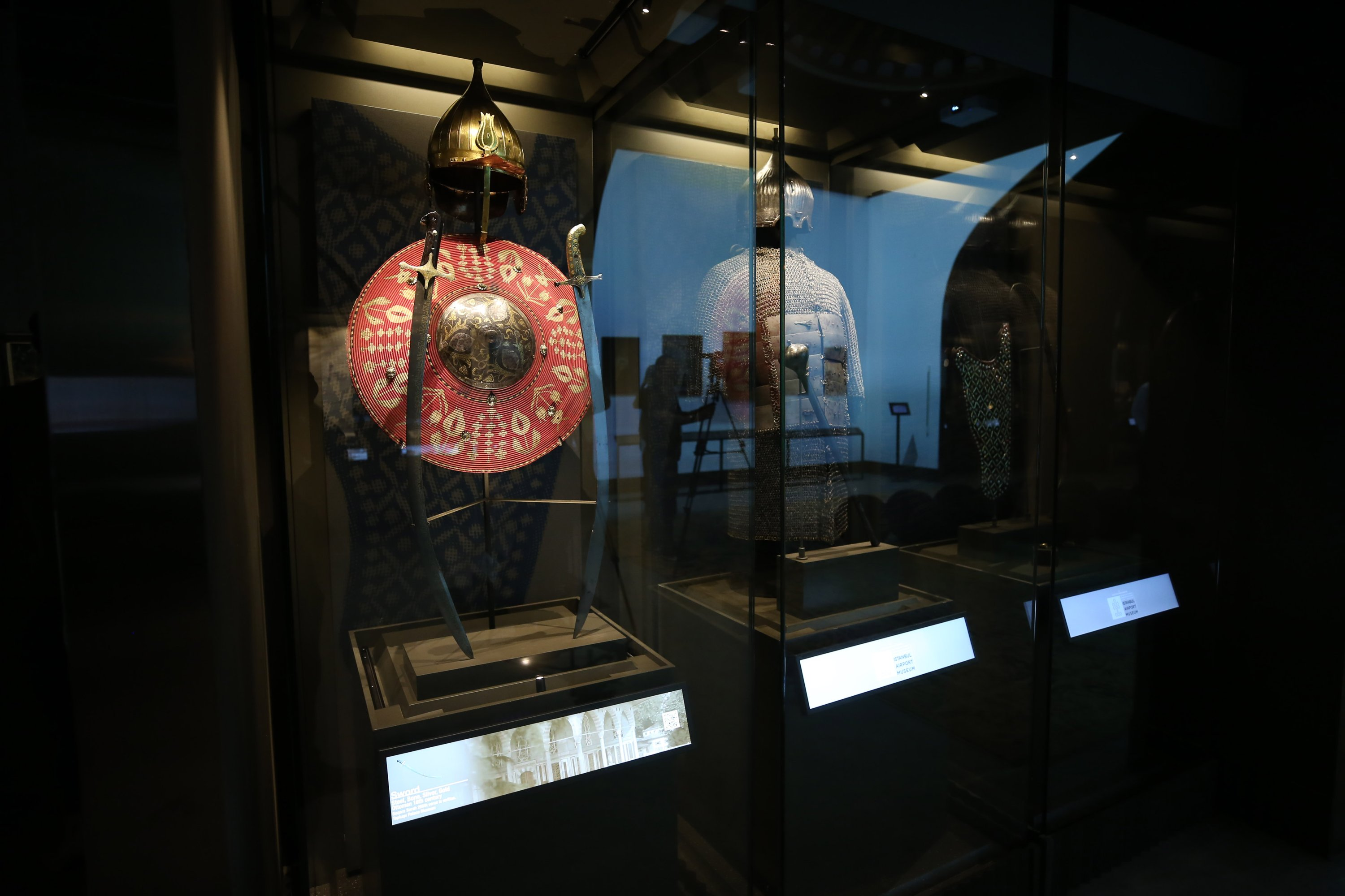 Turkish armor at the Istanbul Airport Museum, Istanbul, July 17, 2020. (AA PHOTO)