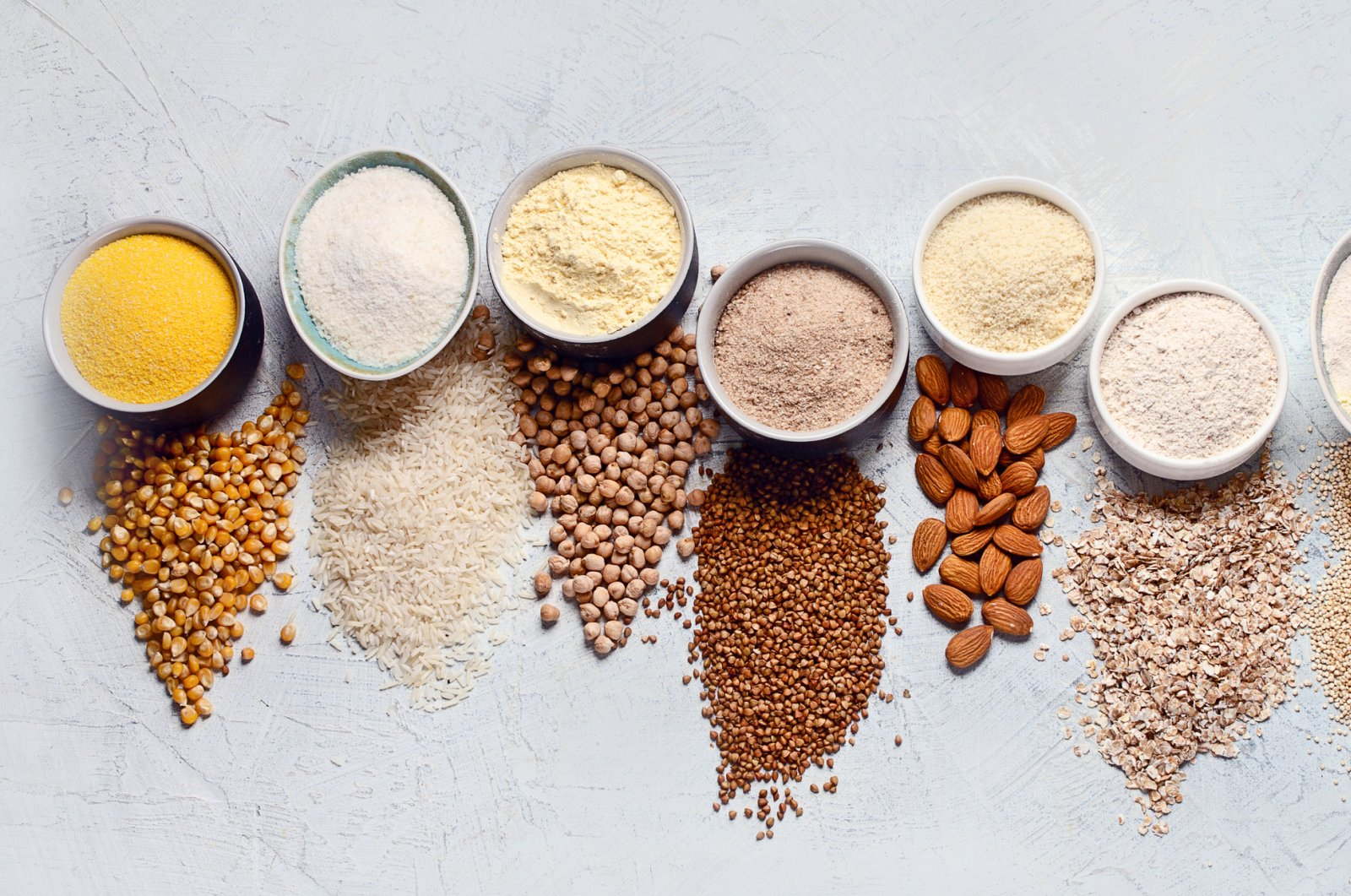 From chickpea, rice and buckwheat flour to quinoa, almond, corn and oat flour, there are so many gluten-free alternatives to choose from. (iStock Photo)