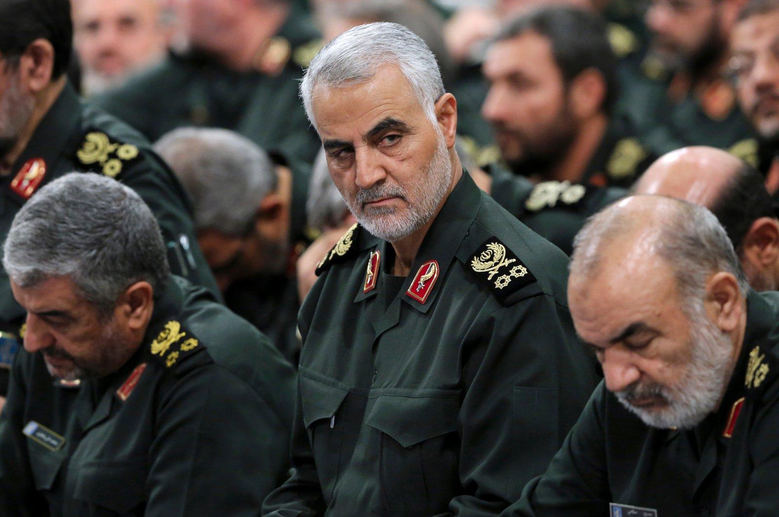 In this undated file photo, former Revolutionary Guard Gen. Qassem Soleimani (C) attends a meeting in Tehran, Iran. (AP Photo)
