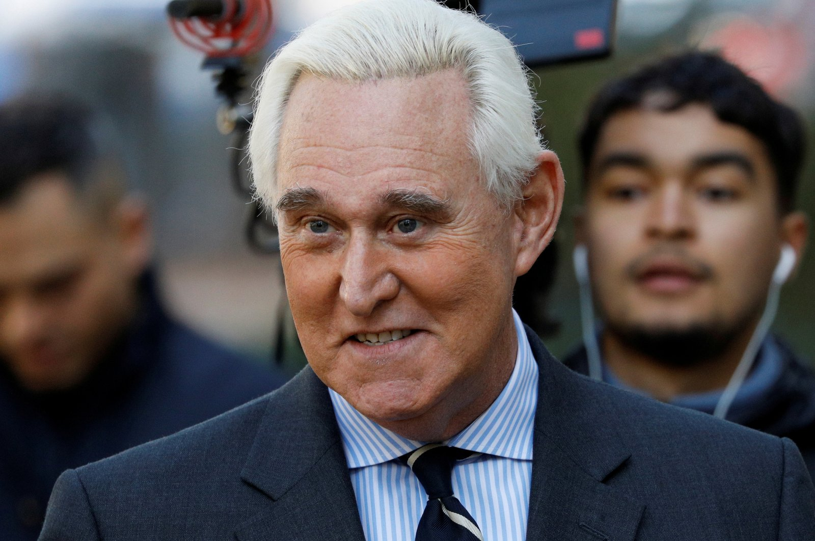 Roger Stone, former campaign adviser to U.S. President Donald Trump, arrives for his criminal trial on charges of lying to Congress, obstructing justice and witness tampering at U.S. District Court in Washington, U.S., Nov. 6, 2019. (Reuters Photo)