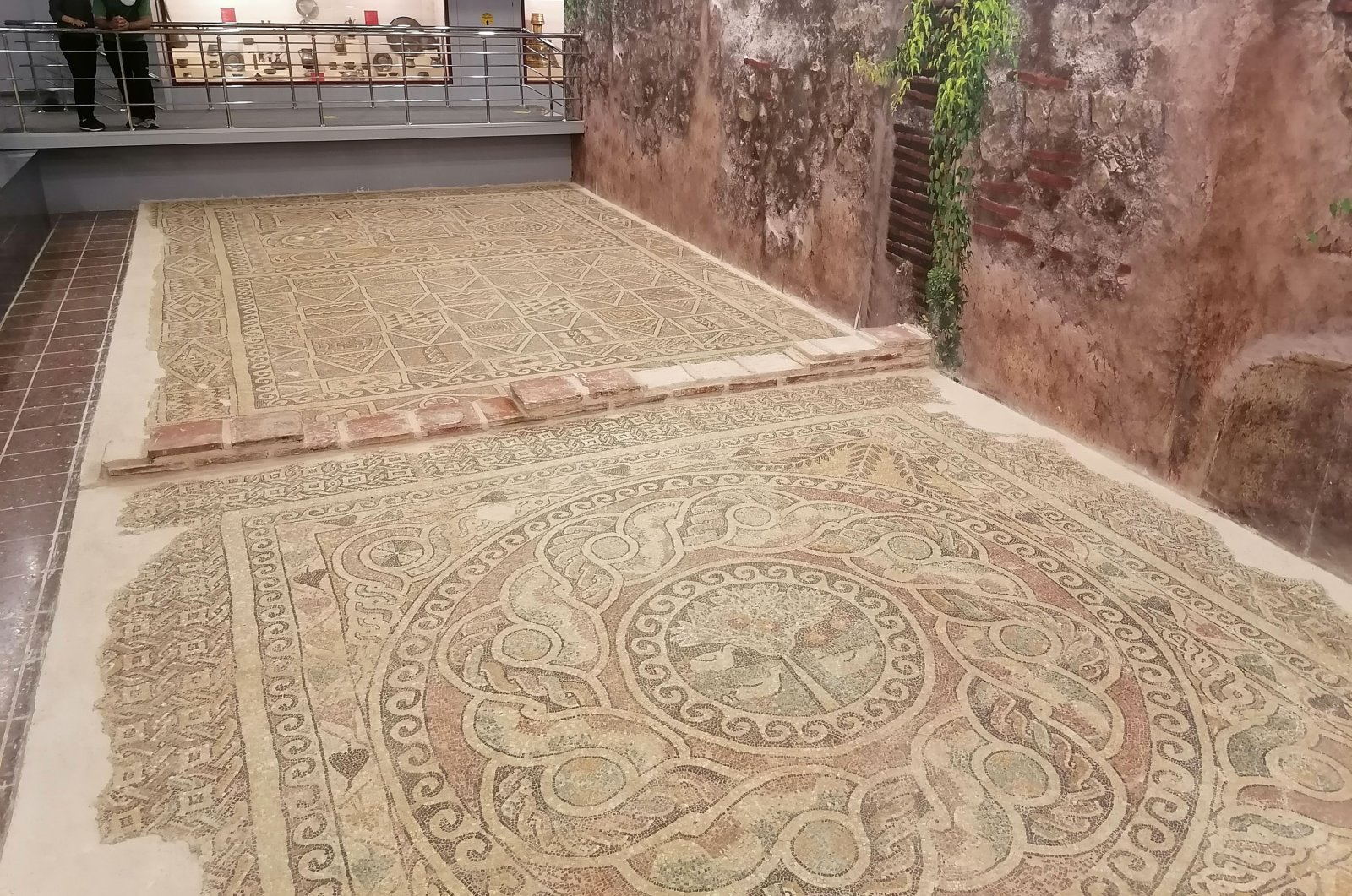 The mosaic is considered to have ornamented a chapel's floor in Amasya province, northern Turkey, July 20, 2020. (DHA Photo)