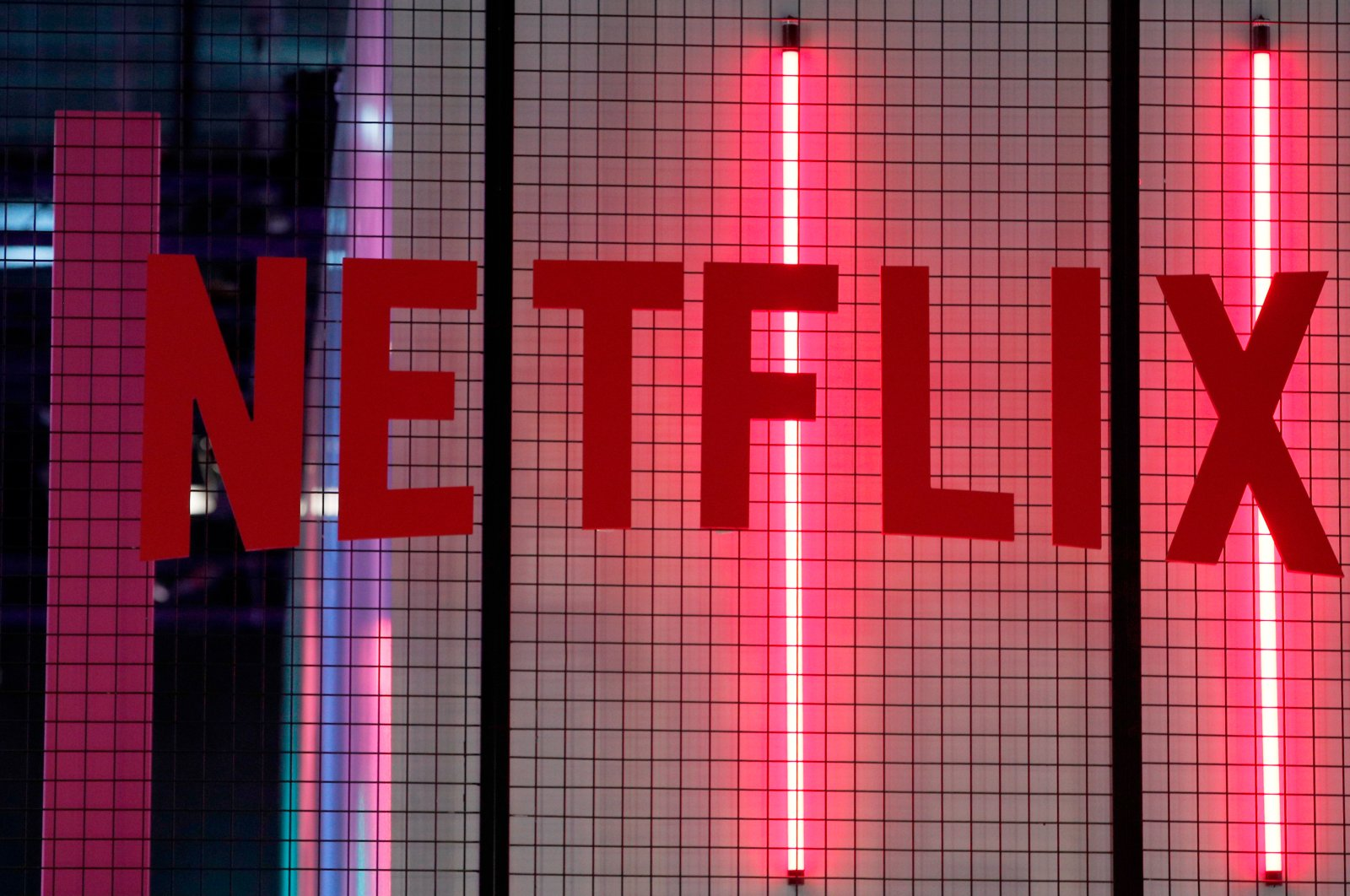 The logo of Netflix on display at the Paris Games Week event in Paris, France, Nov. 4, 2017. (AP Photo)