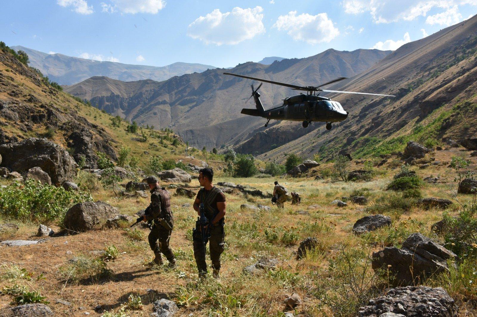 Turkish forces are seen in southeastern Hakkari province, Turkey. (AA Photo)