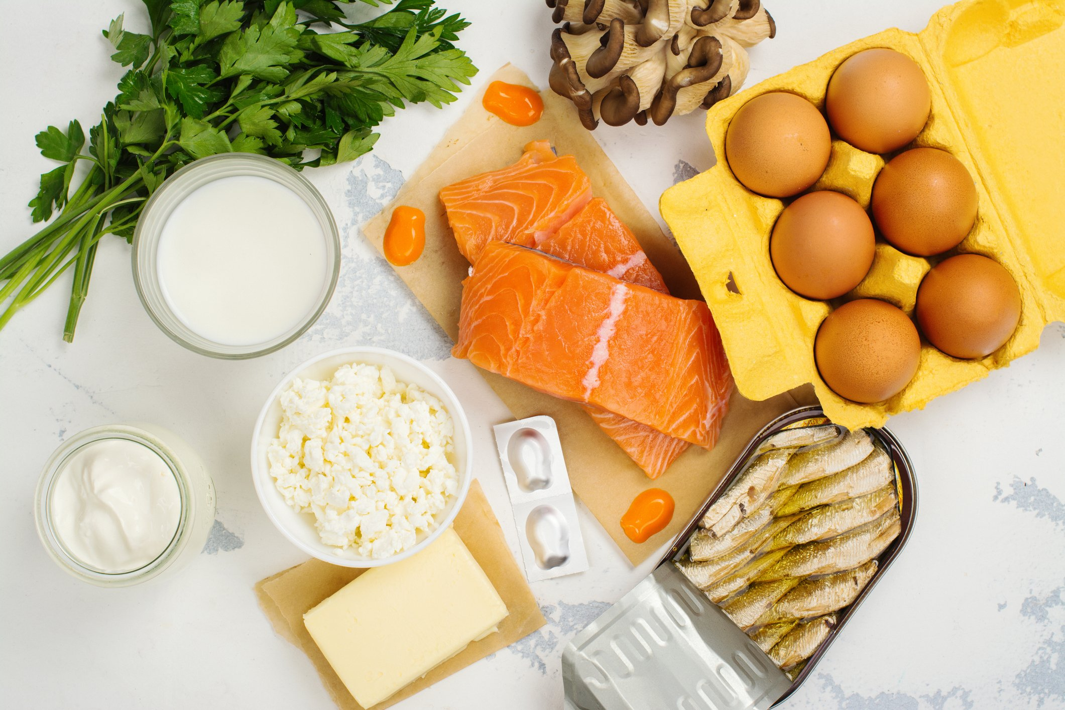 Natural sources of vitamin D include oily fish like salmon, dairy products and eggs. (iStock Photo)