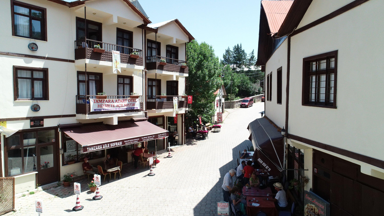 Restored Ottoman houses are seen in the Tamzara neighborhood, Giresun, northern Turkey, July 18, 2020. (AA Photo)