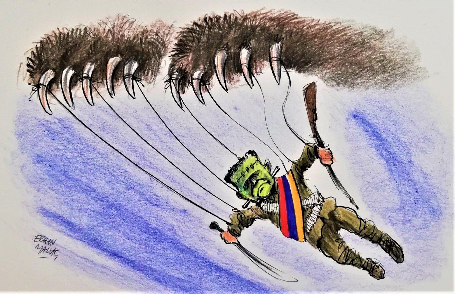 Ermenistan saldırısı çizimi