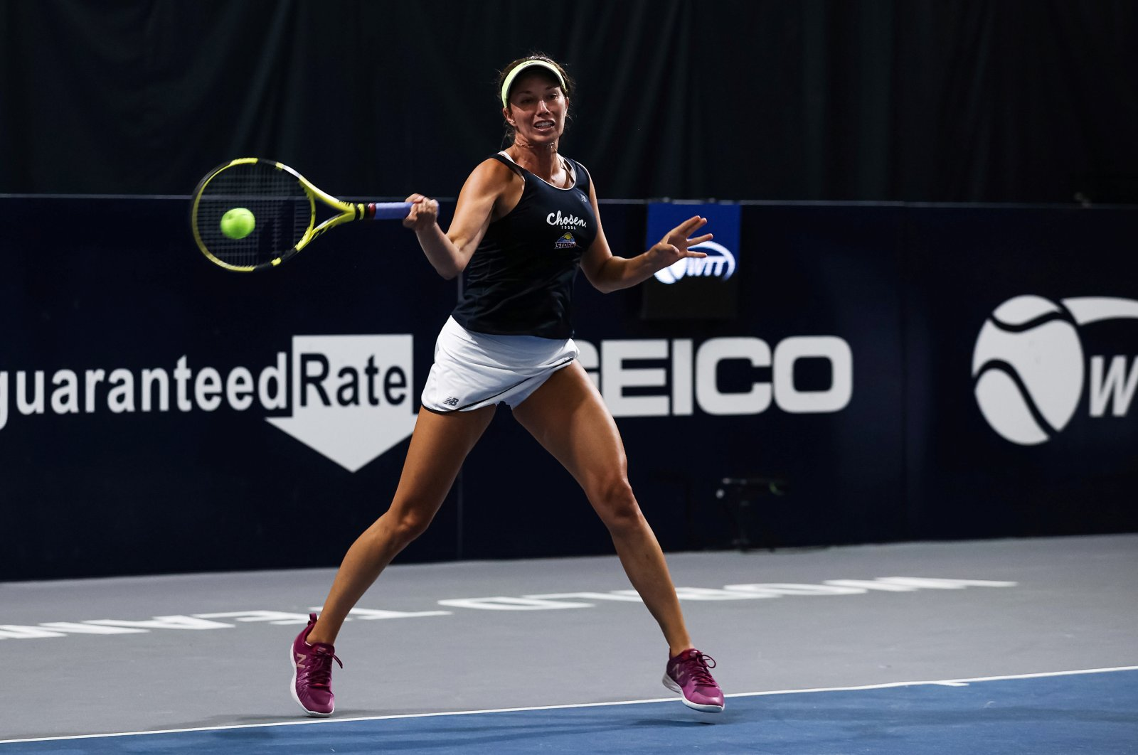Danielle Collins in action during a World TeamTennis match in Greenbrier, West Virginia, U.S., July 16, 2020. (Reuters Photo)