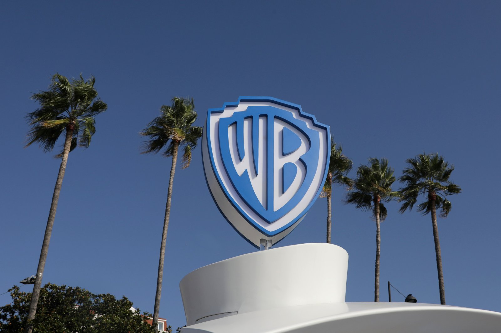 The Warner Bros logo is seen during the annual MIPCOM television program market in Cannes, France, Oct. 14, 2019. (Reuters Photo)