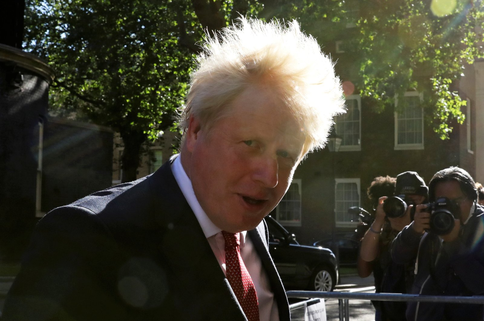 Britain's Prime Minister Boris Johnson arrives for a Cabinet meeting, the first since mid-March because of the coronavirus pandemic, at Downing Street in London, Britain, July 21, 2020. (Reuters Photo)
