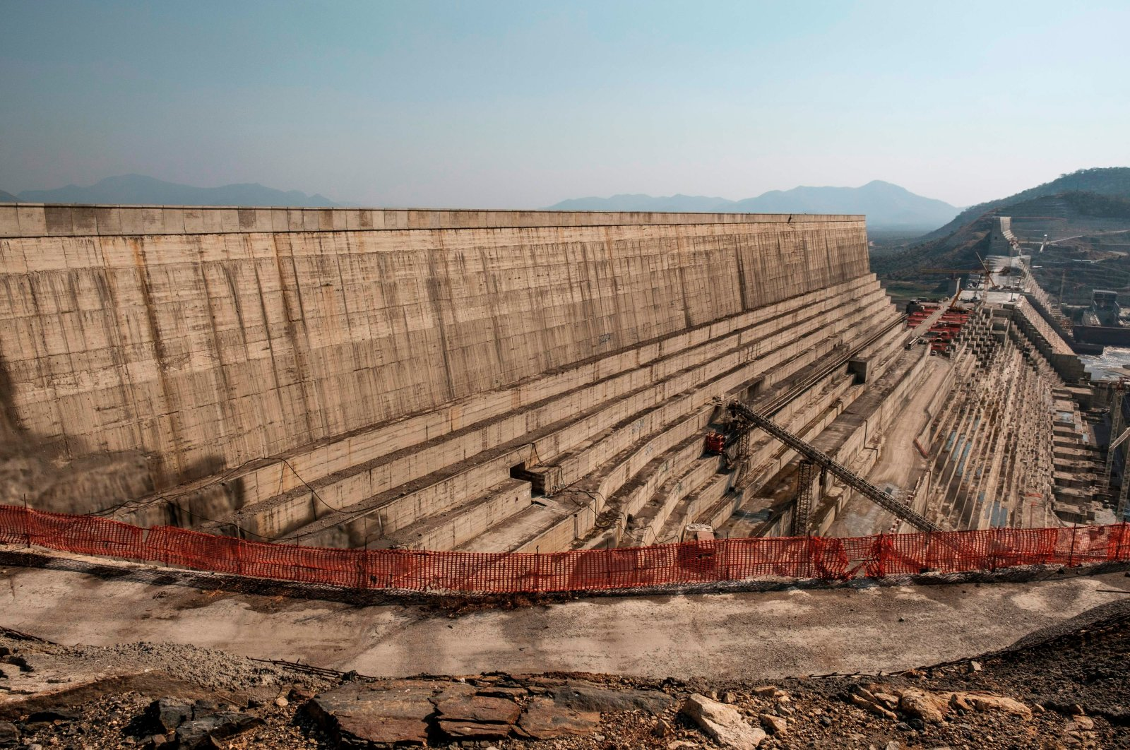 A general view of the Grand Ethiopian Renaissance Dam (GERD), near Guba in Ethiopia, Dec. 26, 2019. (AFP)