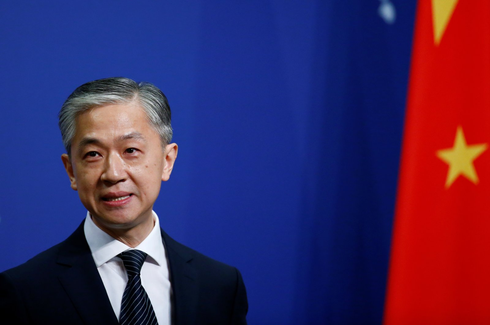 Chinese Foreign Ministry spokesman, Wang Wenbin, speaks during a news conference in Beijing, July 17, 2020. (Reuters Photo)