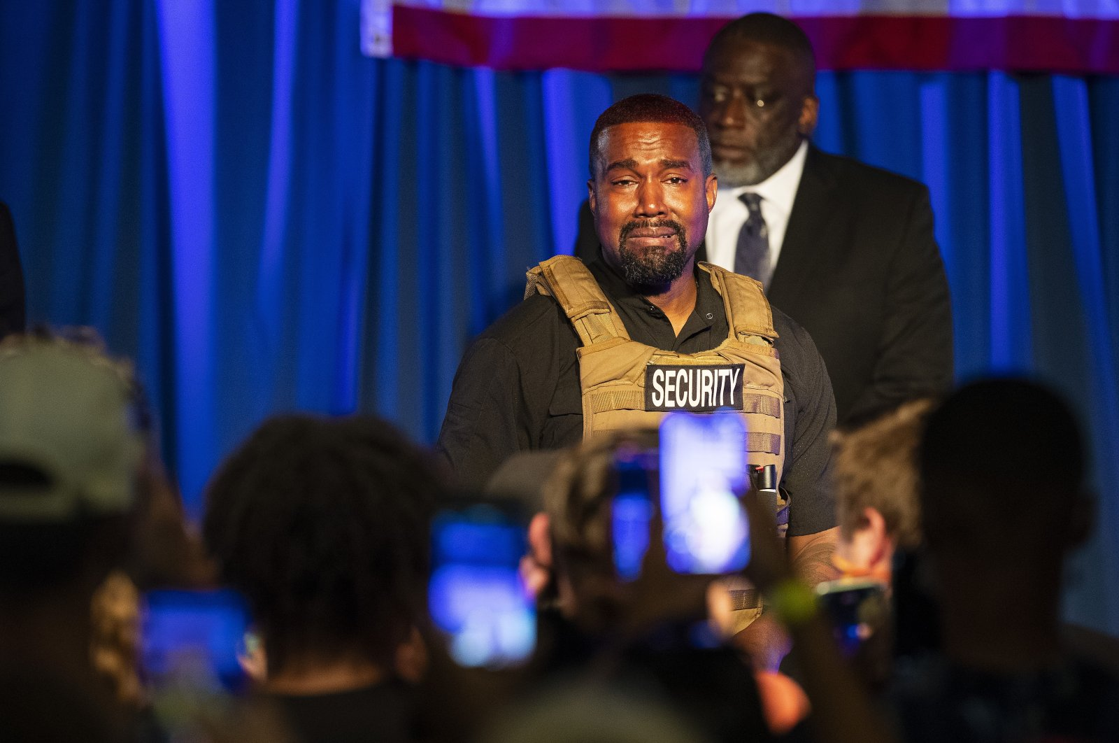 Kanye West makes his first presidential campaign appearance, in North Charleston, South Carolina, U.S., July 19, 2020. (AP Photo)