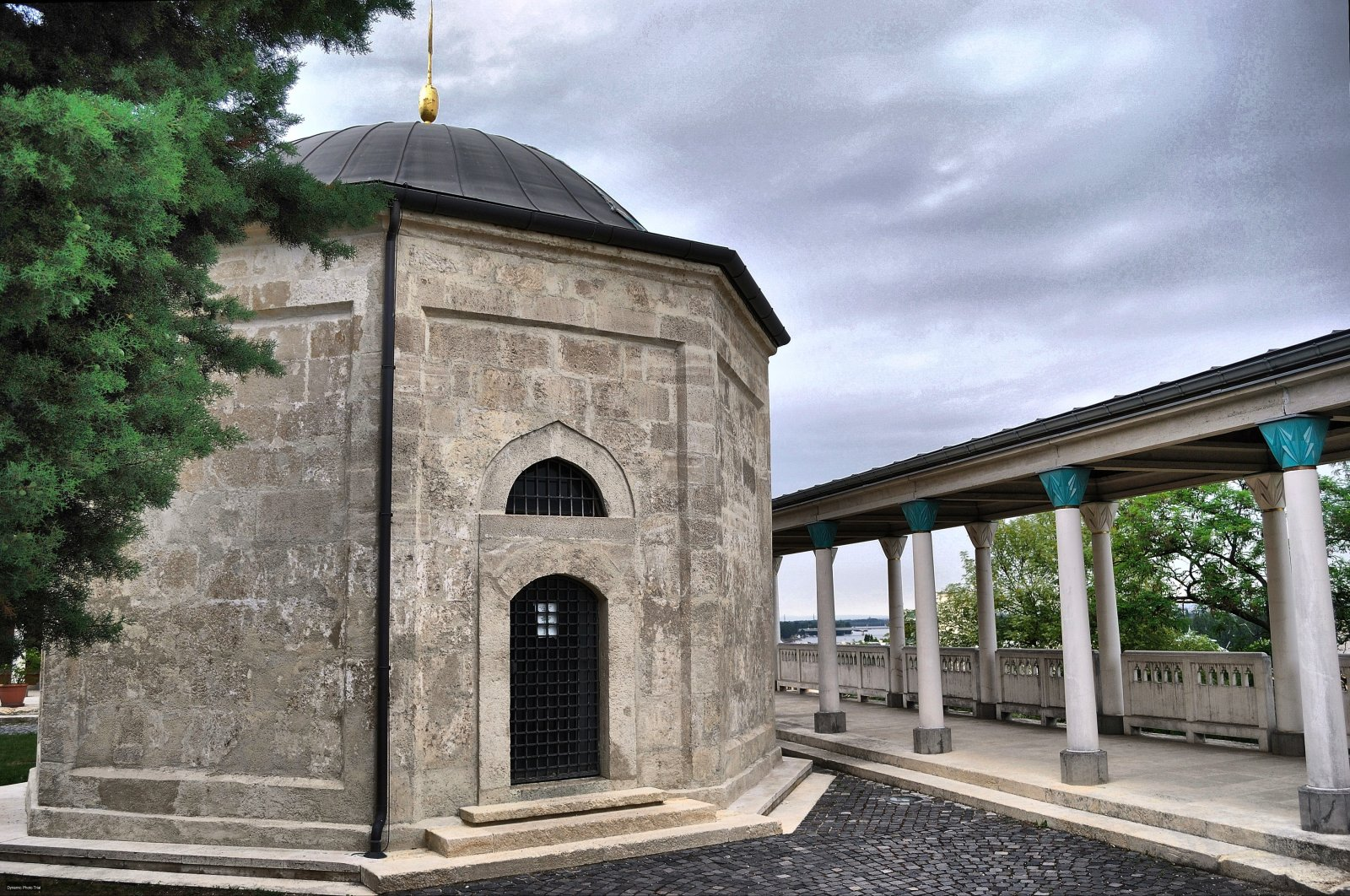 An undated photo of the Ottoman-era Tomb of Gül Baba in Budapest, Hungary.