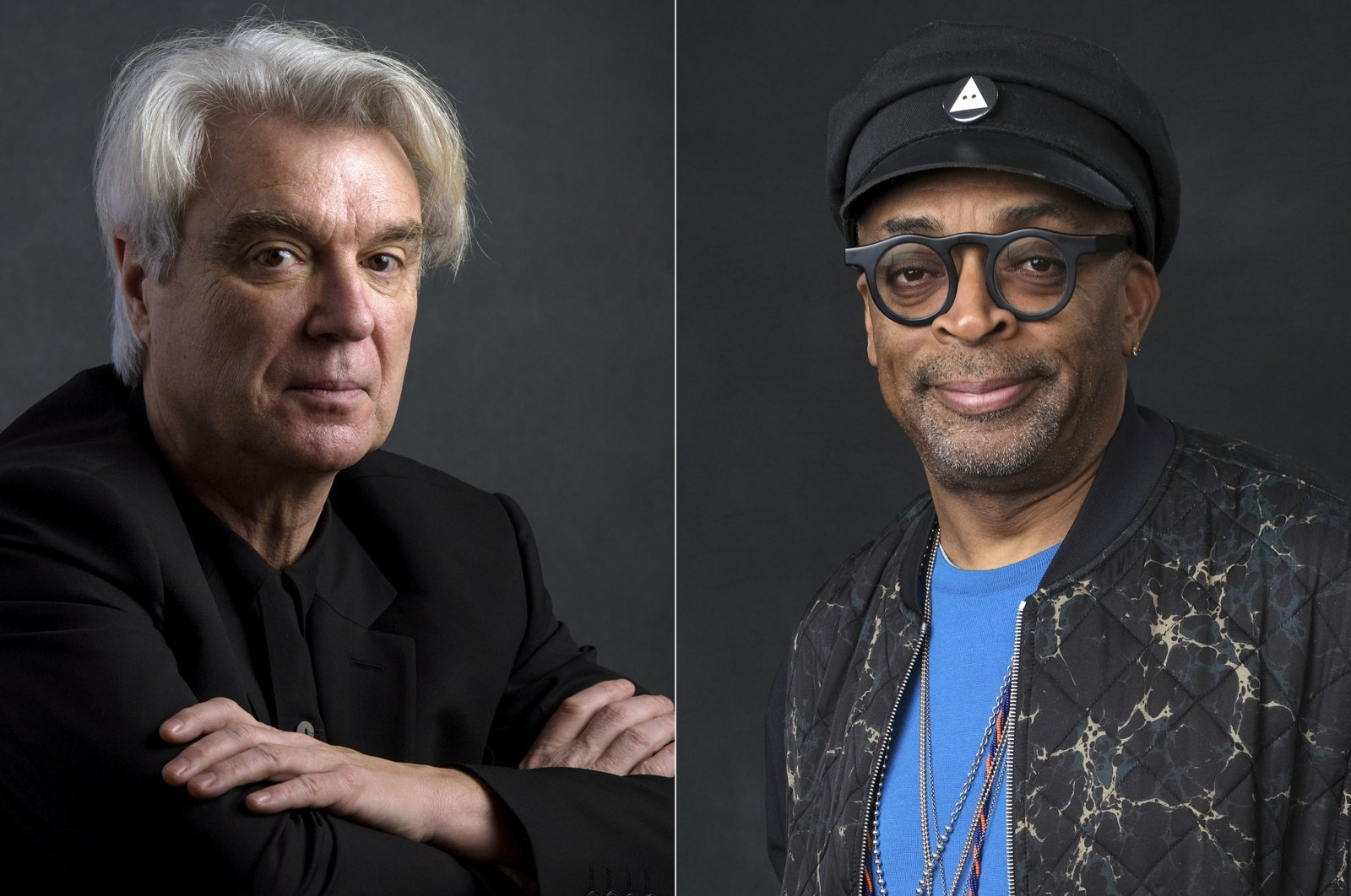 This combination photo shows musician David Byrne, left, and director Spike Lee. (AP Photo)