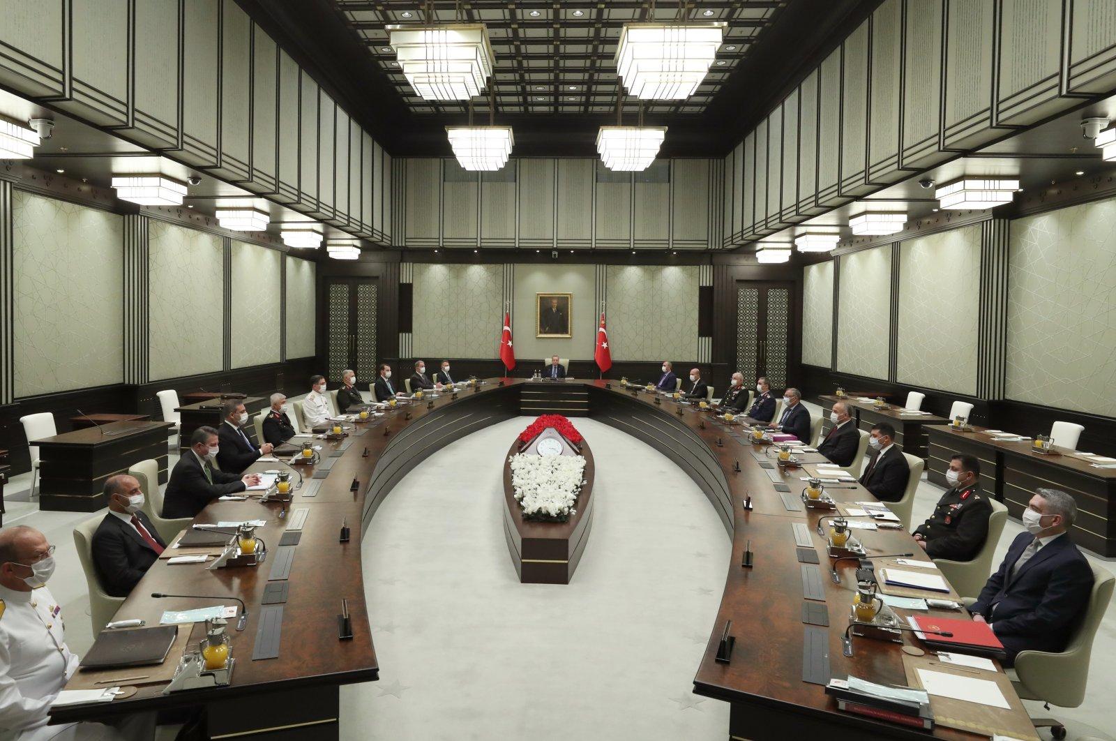Turkey's Turkey's National Security Council (MGK) was convened by President Recep Tayyip Erdoğan, July 22, 2020. (AA Photo)